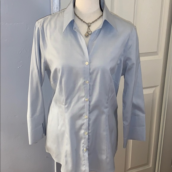 """New Lands""""end shirt in clear blue"""